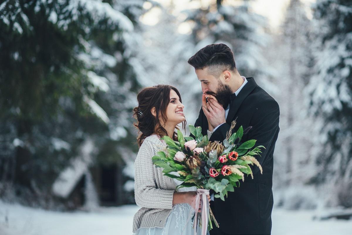 Matrimonio d'inverno: la favola sotto la neve